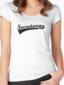 Secretary Women's Fitted Scoop T-Shirt