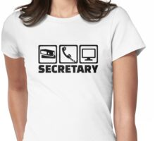 Secretary equipment Womens Fitted T-Shirt
