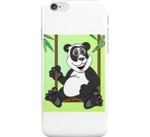 Green Panda Bear Cartoon Swing iPhone Case/Skin