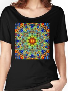 Psychedelic Melting Pot Mandala   Women's Relaxed Fit T-Shirt