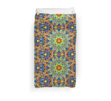Psychedelic Melting Pot Mandala   Duvet Cover