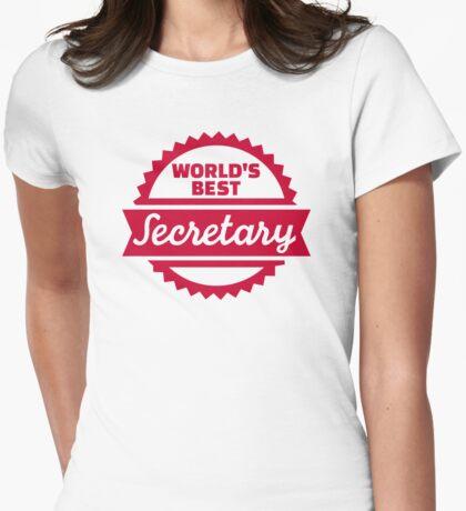 World's best secretary Womens Fitted T-Shirt
