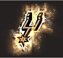 Spurs on Fire! Photographic Print