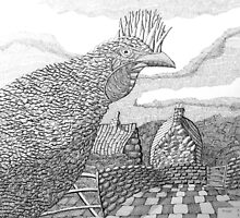 220 - HEN - DAVE EDWARDS - INK - 2009 by BLYTHART