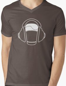 Music listening beer...  Mens V-Neck T-Shirt