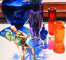 """Parasol"", Watercolor, Paul Jackson""Parasol"", Watercolor by Paul Jackson"