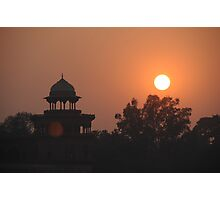 Sunset at Taj Mahal Photographic Print
