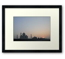 Sunset at Taj Mahal Framed Print