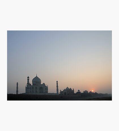 Sunset at Taj Mahal Photographic Print