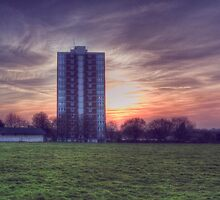 Moor Tower Sunset by Nigel Bangert
