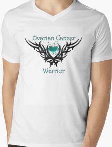 Ovarian Cancer Warrior Mens V-Neck T-Shirt