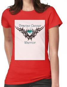 Ovarian Cancer Warrior Womens Fitted T-Shirt