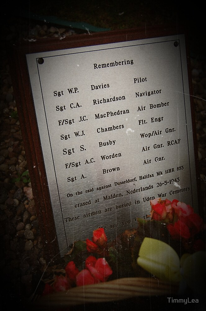 memorial at the former RAF snaith site by TimmyLea