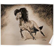 """A Free & Untamed Spirit"" - Sepia version Poster"