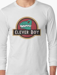 Dino Charge Green - Clever Boy Long Sleeve T-Shirt