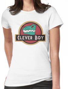 Dino Charge Green - Clever Boy Womens Fitted T-Shirt