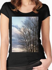 Clouds and trees Women's Fitted Scoop T-Shirt