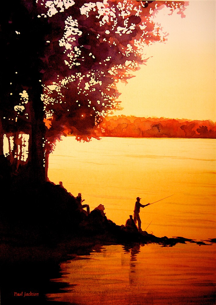 """""""Fisher People"""" Watercolor by Paul Jackson"""