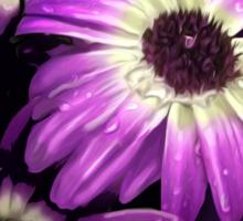 Purple Petals with Bee Sticker