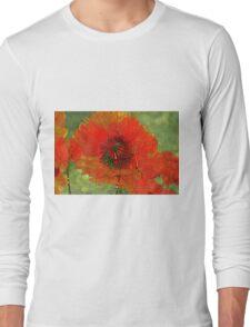 Poppy Field 14  Long Sleeve T-Shirt