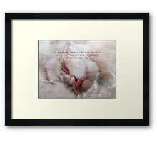 Learn to laugh-inspirational Framed Print