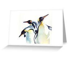 """Penguin Trio"" Wildlife Watercolor Greeting Card"