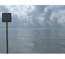 No Diving! Photographic Print