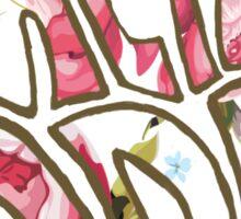 pretty odd floral Sticker