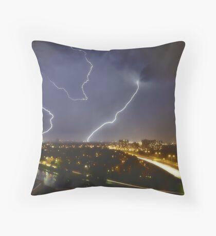 Lightning! Throw Pillow