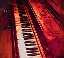 Old Beaten Up Piano by Richard Dooley