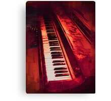 Old Beaten Up Piano Canvas Print