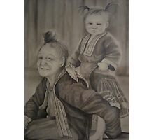 Thai Grandmother and Child Photographic Print