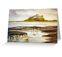 Bamburgh Castle water colour Greeting Card
