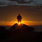 Anzac day sunrise Long reef headland by Doug Cliff