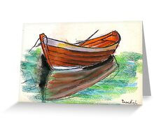 Swedish Dorry Fishing Boat  Greeting Card