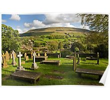Pendle Hill from Downham Poster