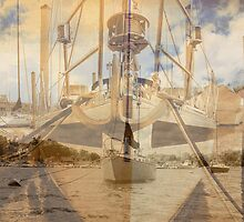 Layered sail boat by rtographsbyrolf