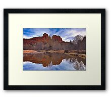Sedona, Oak Creek Reflections of Cathedral Rock Framed Print
