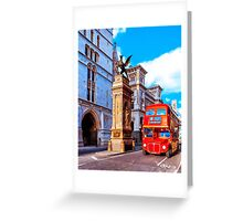 Timeless London - Routemaster Double Decker Bus Greeting Card