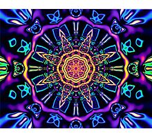 """""""Return to Awe"""" - Psychedelic Abstract Mandala  Photographic Print"""