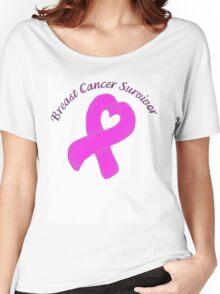 Breast Cancer Heart Survivor Women's Relaxed Fit T-Shirt