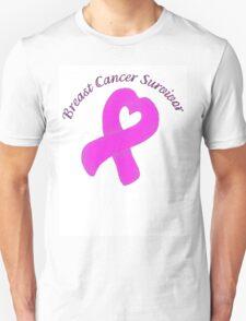 Breast Cancer Heart Survivor Unisex T-Shirt