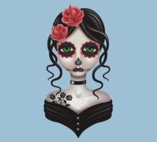 Sad Day of the Dead Girl on Red Kids Clothes