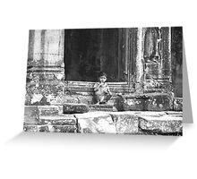 Angkor Boy Greeting Card