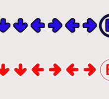 Konami Code Sticker
