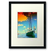 Orange Cloud Sail Framed Print