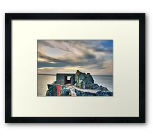 Bunker on a Headland - Alderney Framed Print