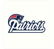 new england patriots logo Art Print