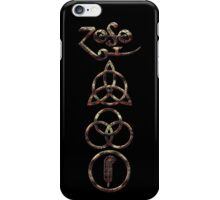 EXTREME DISTRESSED TRIQUETRA - burning coals V iPhone Case/Skin