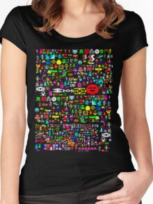 Heroes of the BBC micro (wraparound print) Women's Fitted Scoop T-Shirt